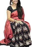 Premium Choice Women's Cotton Silk Saree With Blouse Piece (Bpuri58_Multicolor)