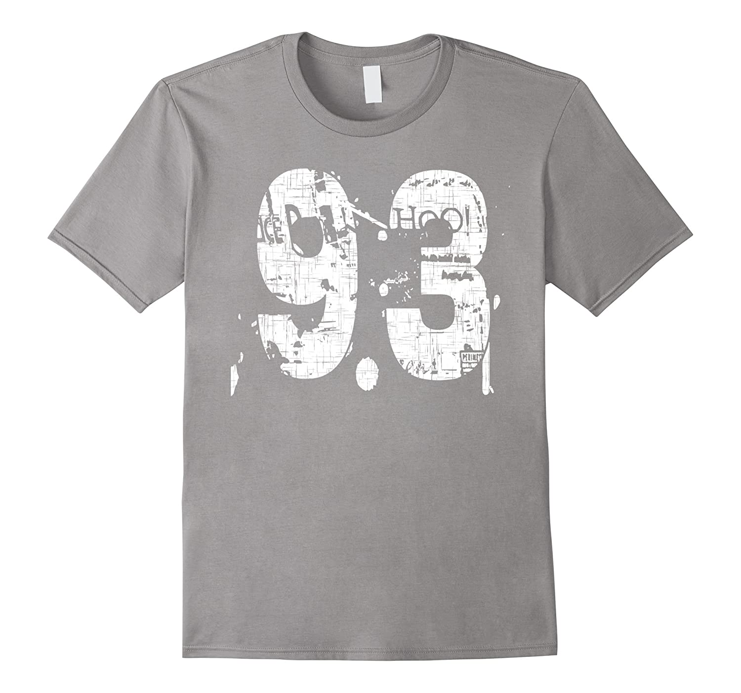 93 Numbered T-Shirt printed front and back in super grunge-PL