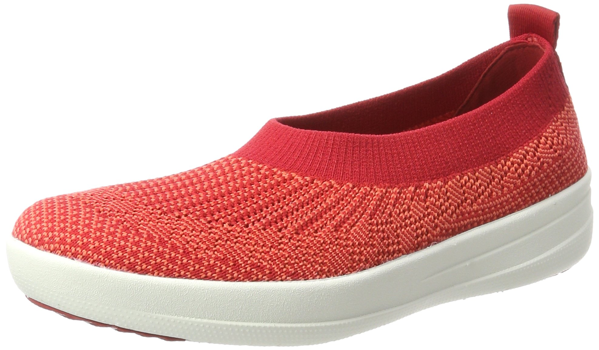 Fitflop H95 Women's Uberknit™ Slip-On Ballerinas, Classic Red - 8.5 by FitFlop (Image #1)