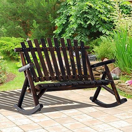 Amazon Com Festnight 2 Person Outdoor Patio Porch Wood