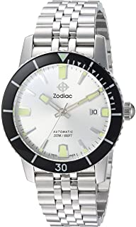 Zodiac Mens Super Seawolf 53 Comp Swiss Automatic Stainless Steel Casual Watch, Color