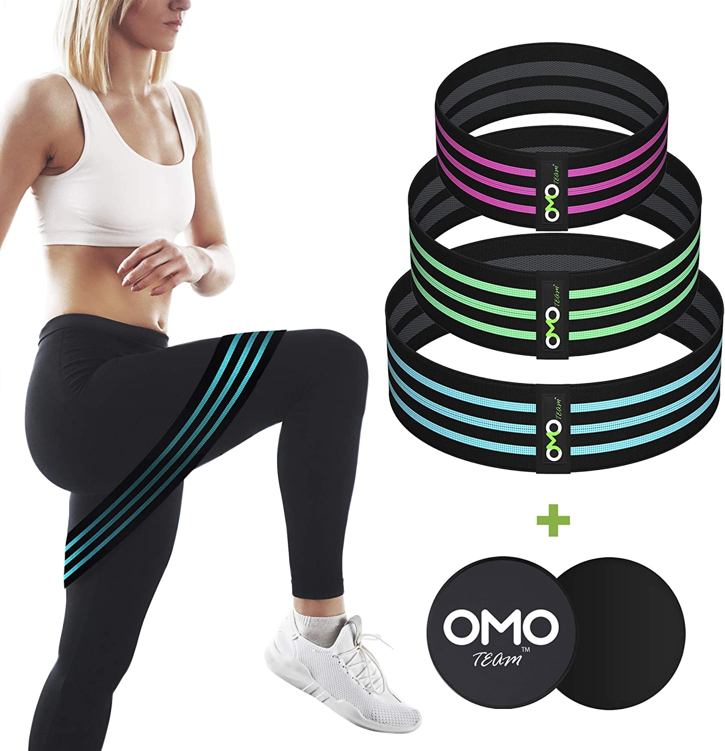 Details about  /Resistance Bands Sport Elastic Loop Booty Band Expander Anti Slip Hip Fitness