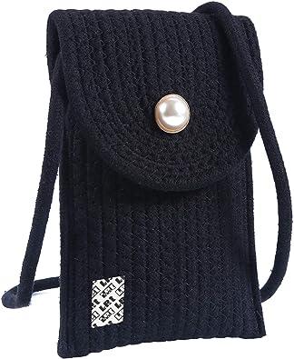 LefRight - Funda de algodón para teléfono móvil, diseño de ganchillo para iPhone 11 Pro Max Samsung Galaxy S10 Plus: Amazon.es: Zapatos y complementos