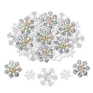 Howaf 300 Stuck Schneeflocken Konfetti Weihnachten Winter Deko
