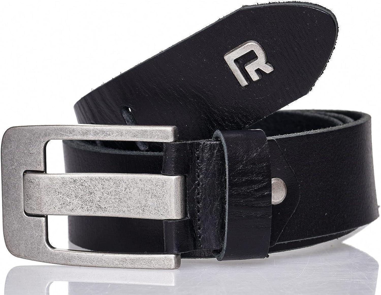 Redbridge Jeans Herren Leder Gürtel Echtleder Ledergürtel Belt Premium 4,4 Breit