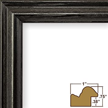 craig frames 130ashbk wood grain finish 16 by 18 inch pictureposter frame