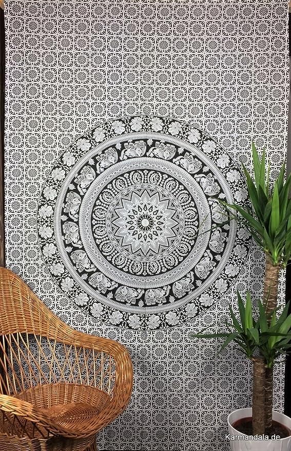Indian Hippie Wall Hanging Elephant Mandala Tapestry Bedspread Boho Beach Throw
