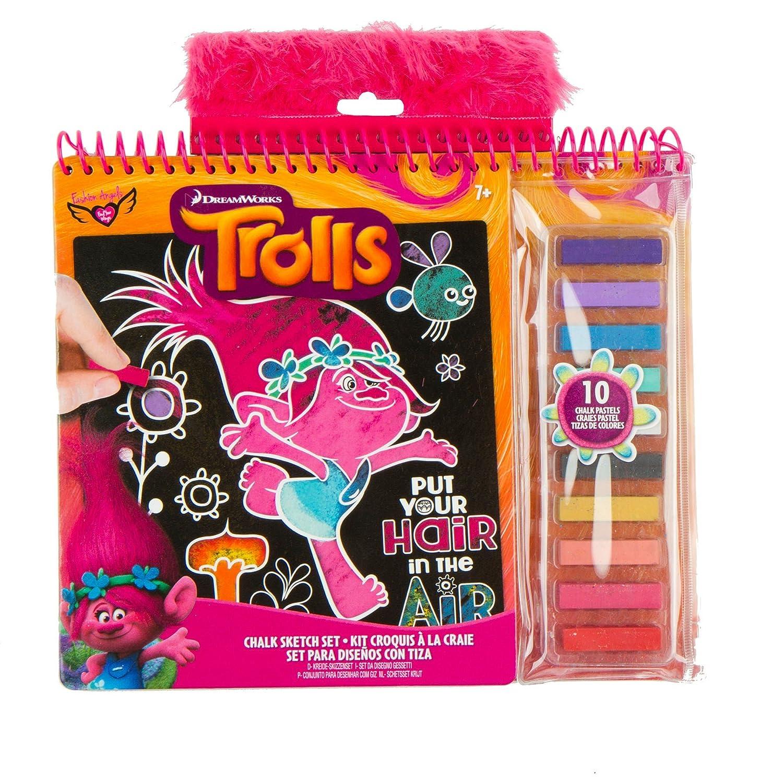 Fashion Angels 87656 Trolls Chalk Sketch Set