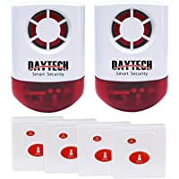 Daytech Wireless Strobe Siren Alarm Home Caring Loud Outdoor SOS Alert System 2 Red Flashing Siren and 4 Emergency…