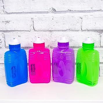 Juego de 4 de agua de plástico libre de BPA botellas de bebida 350 ML escuela