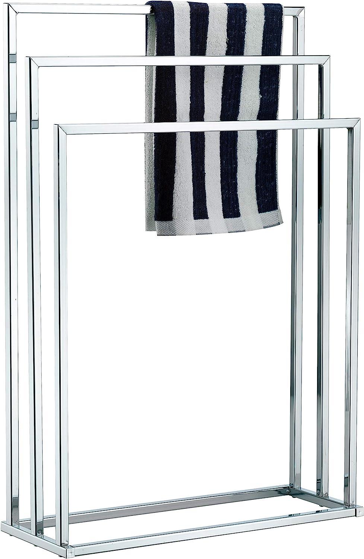 Chrome. Premier Housewares 3 Arm Freestanding Towel Stand