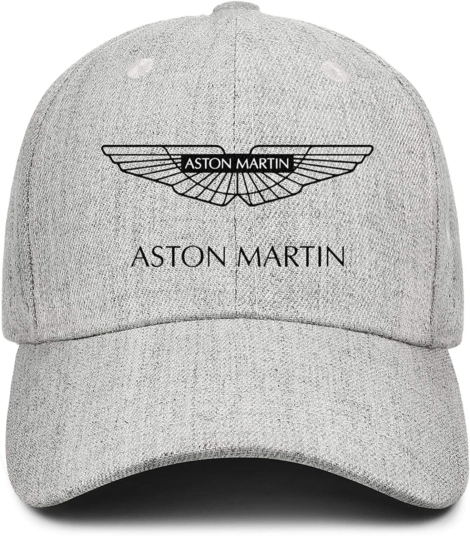 Snapback Printed Hats All Cotton Grey Baseball Caps Aston-Martin