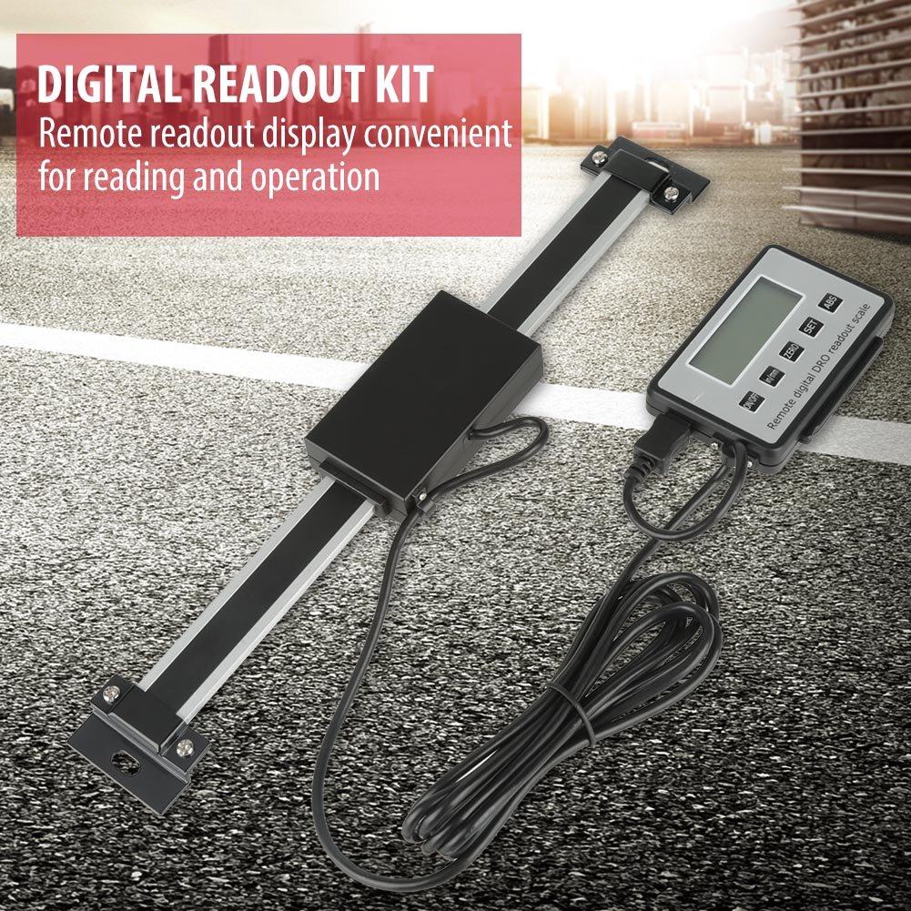 Kit de lectura digital escala lineal de torno Escala de lectura digital escala de lectura LCD digital precisa de 0-150 mm para tornos de fresadoras