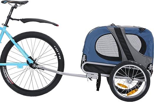 Leonpets mascotas Remolque de bicicleta Perros Carro Transporter ...