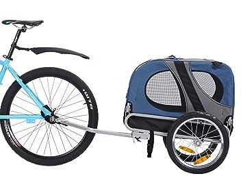 Leonpets mascotas Remolque de bicicleta Perros Carro Transporter con acoplamiento universal azul nuevo 10115