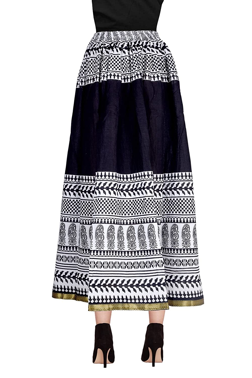 Grey Diligence India Cotton Long Skirt DL3034