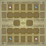 おもちゃの神様 遊戯王 新マスタールール プレイマット ラバーマット リンク召喚 EXゾーン 対応 (60×60cm 壁画風)