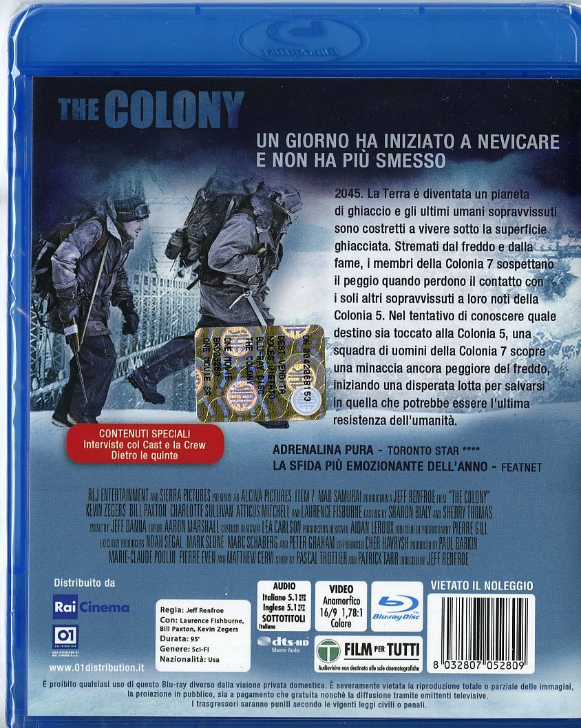 Amazon.com: the colony (blu-ray) blu_ray Italian Import: laurence fishburne, kevin zegers, jeff renfroe: Movies & TV