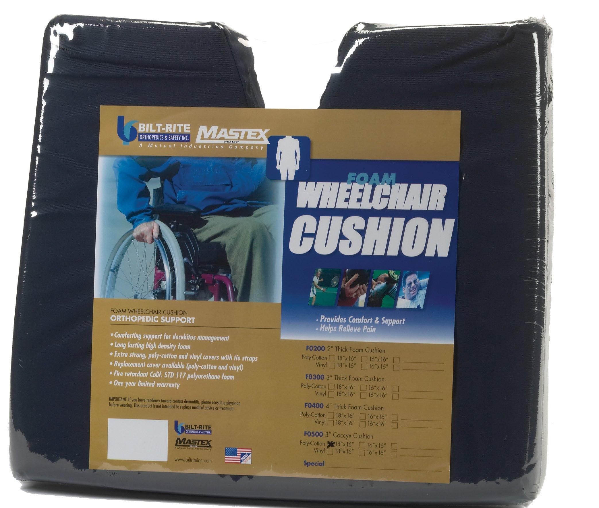 Bilt-Rite Mastex Health Coccyx Cushion, Blue