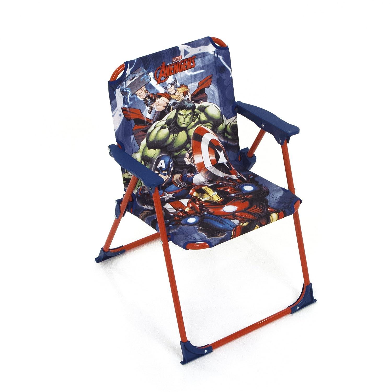 Arditex Sedia pieghevole per bambini sotto licenza Avengers in metallo dimensioni: 38x 32x 53cm, Tessuto, 38x 32x 53cm AV11919