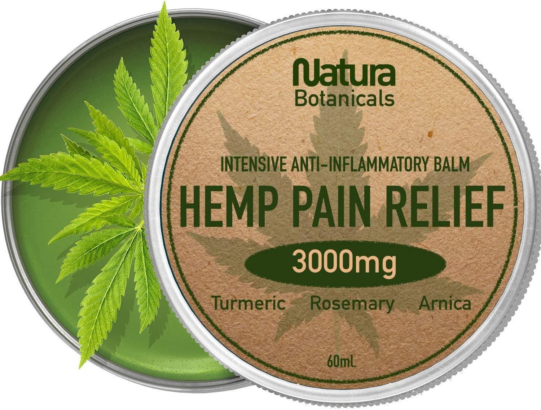 Bálsamo de cáñamo - Alivia el Dolor Naturalmente, 3000 mg de Cáñamo, Romero, Extracto de Cúrcuma y Árnica, Antiinflamatorio para Articulaciones y Músculos, Cáñamo de Acción Rápida, 60 ml