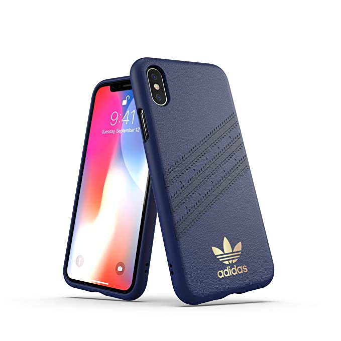 timeless design c6c95 dd4a9 adidas Originals Moulded Case Samba for iPhone X/XS - Blue