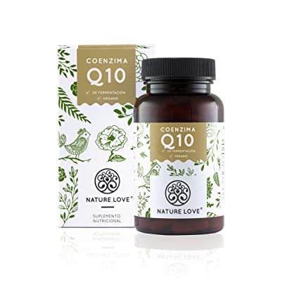 NATURE LOVE® Coenzima Q10 con 200mg por cápsula. 120 cápsulas duran 4 meses.