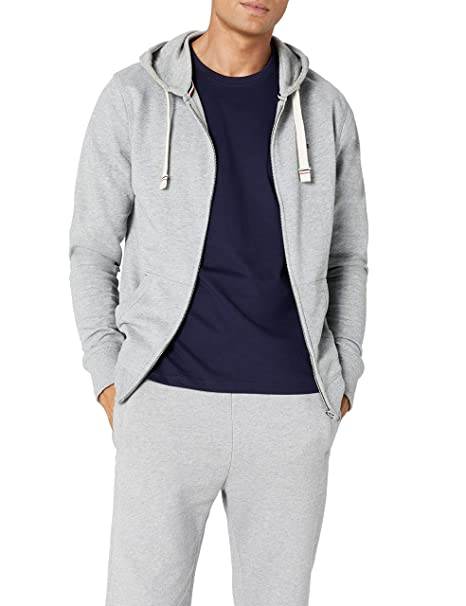 Tommy Hilfiger Icon HWK Zipthru Hoody Capucha, Gris (Grey Heather ...