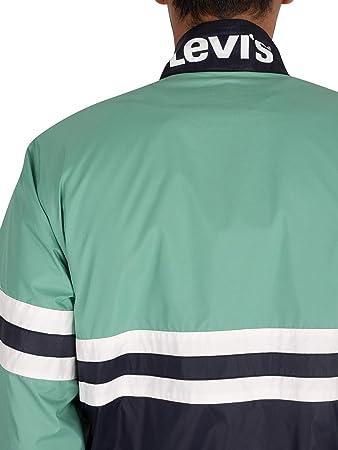 Levi's de los Hombres Chaqueta Rompevientos Color Block, Verde