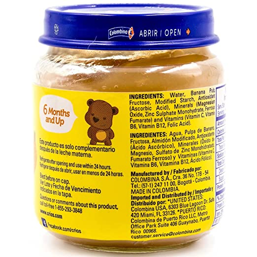 Amazon.com : Colombina Crios Baby Food, Tropical Fruits, 4 Ounce (Pack of 24) : Grocery & Gourmet Food