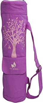 Fit-Spirit-Tree-of-Life-Exercise-Yoga-Mat-Bag-w/2-Cargo-Pockets