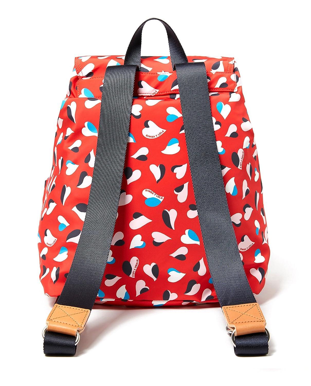 Bimba y Lola - Bolso mochila de Poliéster para mujer Rojo rojo M: Amazon.es: Ropa y accesorios