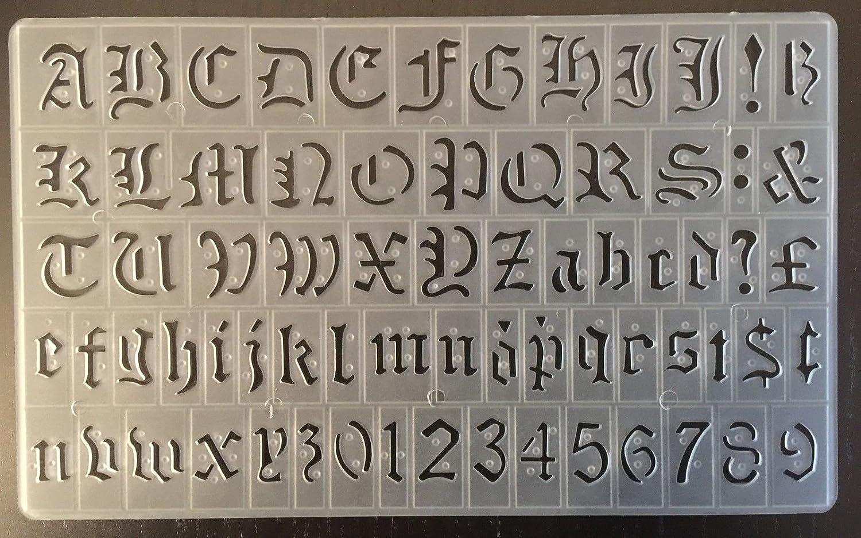 Cox plantilla de letras, 20 mm, estilo inglés, mayúsculas, minúsculas y Números p-1596: Amazon.es: Hogar