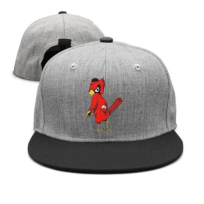 dyzinga Cute Red Bird Play Ball Flat Bill Summer Hats Baseball Caps ... 804cbc7bd62
