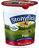 Stonyfield Farm Organic Plain Cream Top Yogurt, 32 Ounce -- 6 per case.