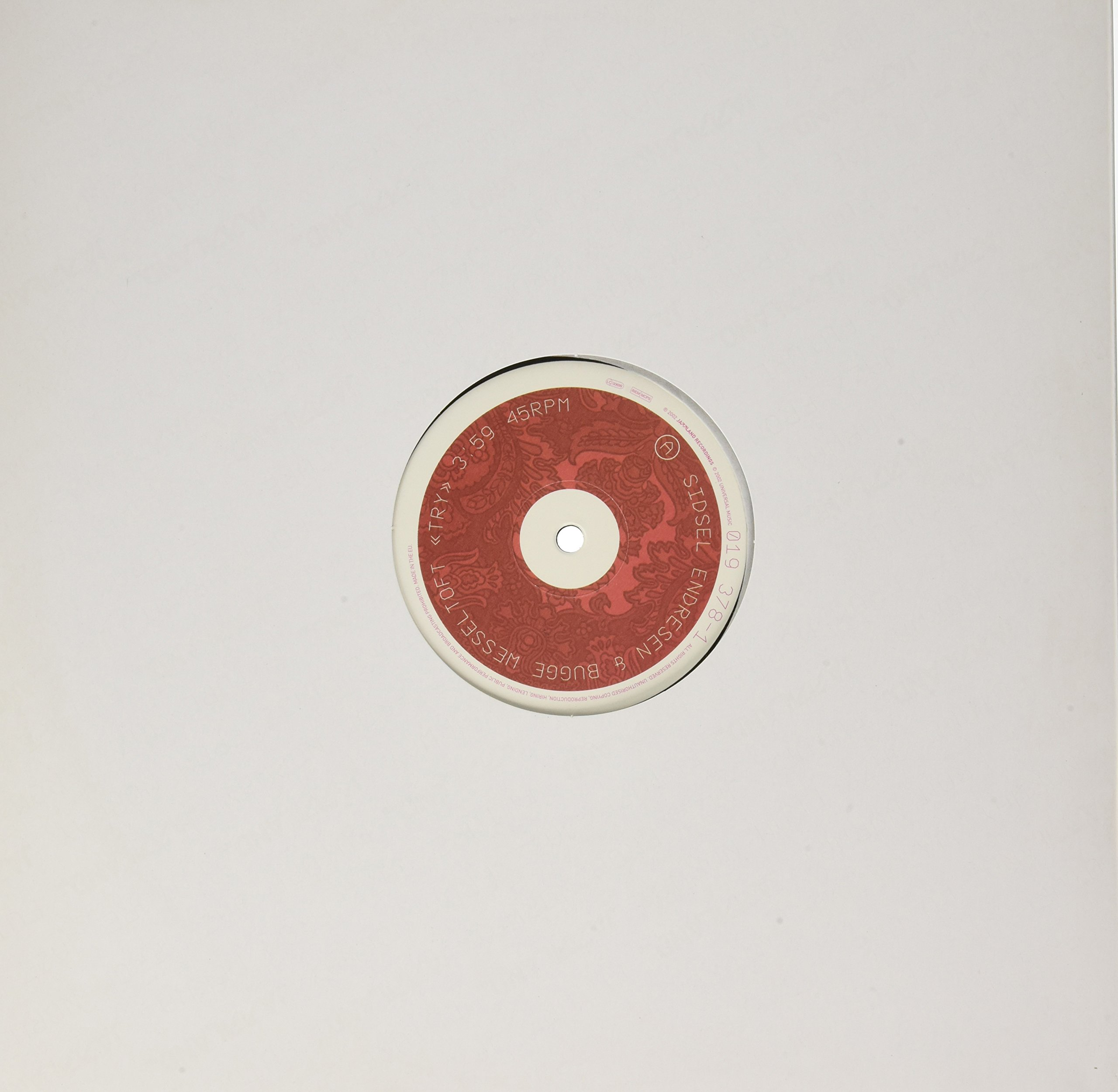 Vinilo : Bugge Wesseltoft - Try (remix) With Sidsel Endresel (Spain - Import)