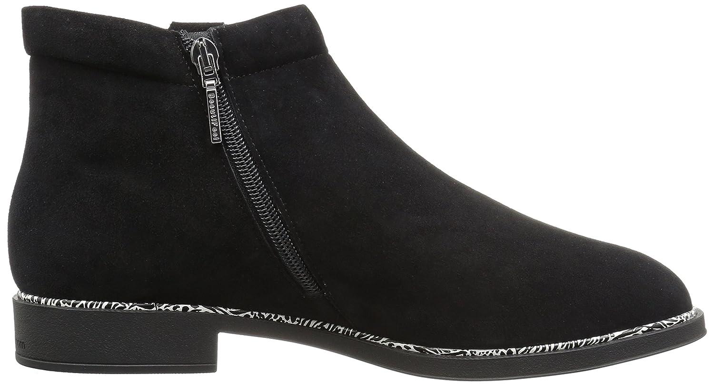 BeautiFeel Women's Montana Ankle Boot B06Y2HCZCS 420 Medium EU (11 US)|Black Suede Different Ornament