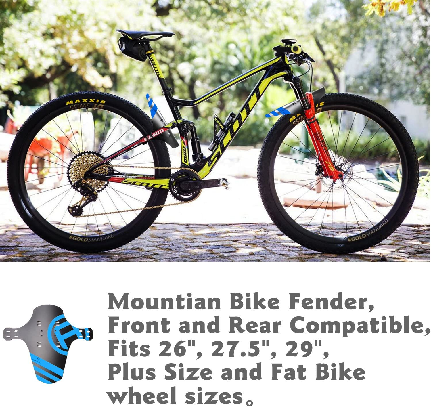 "NICEDACK Mud Guard 2Pcs MTB Bicycle Mudguards for 26/"" 650B 27.5/"" 29/"" MTB Bike"