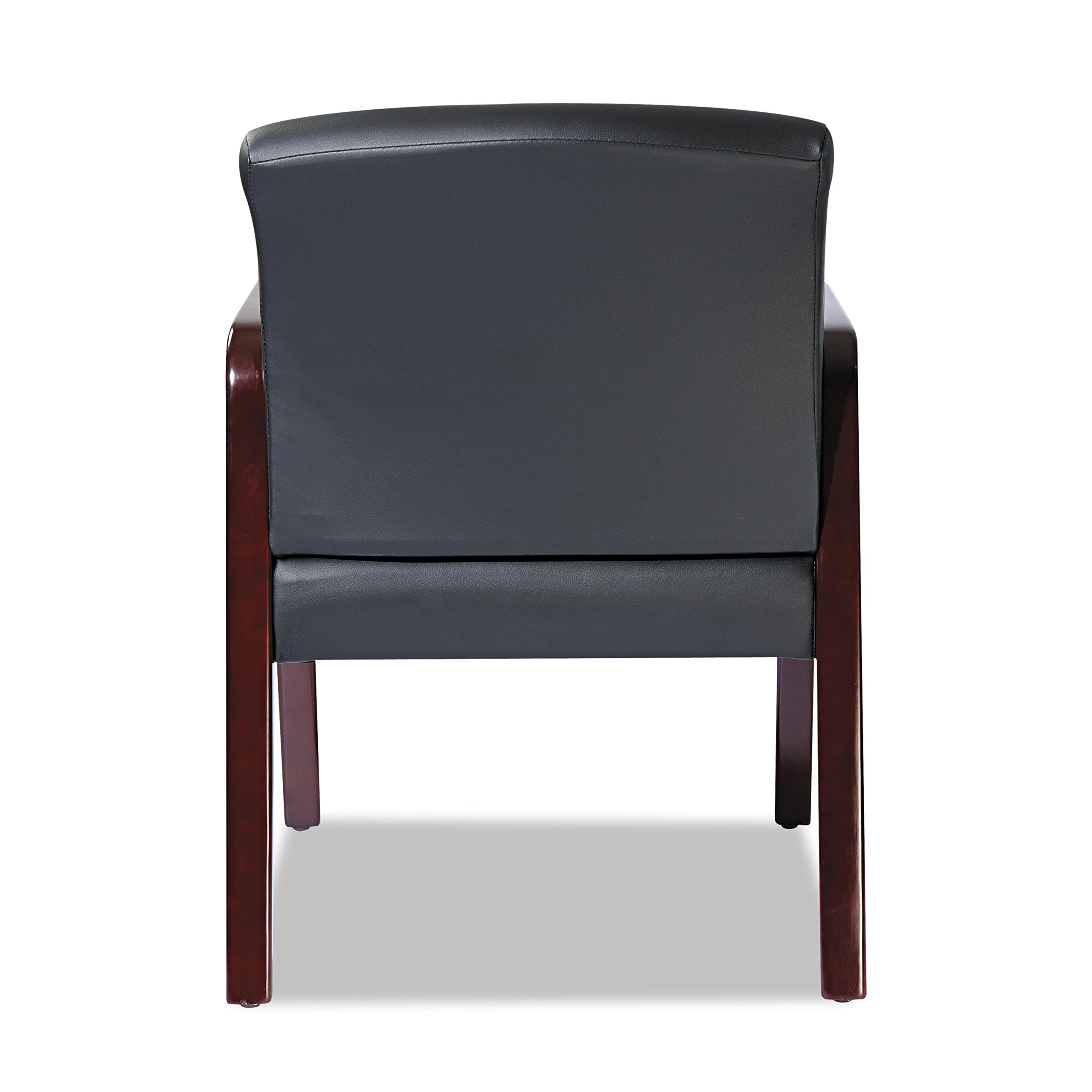 Alera ALERL4319M Reception Lounge Series Guest Chair, Mahogany/Black Leather by Alera (Image #9)