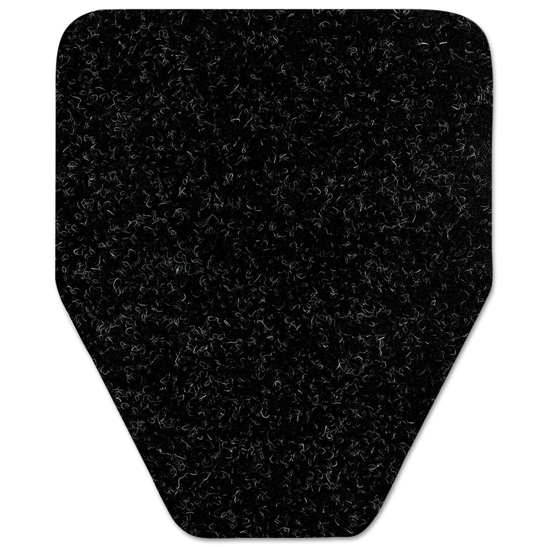 Antimicrobial Floor Mat, Urinal, 17 x 20 1/2, Black, 48/Carton, Sold as 1 Carton, 48 Each per Carton