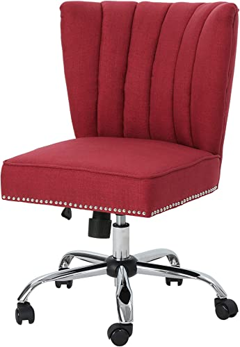 Christopher Knight Home Angela Home Office Chair, Red Chrome
