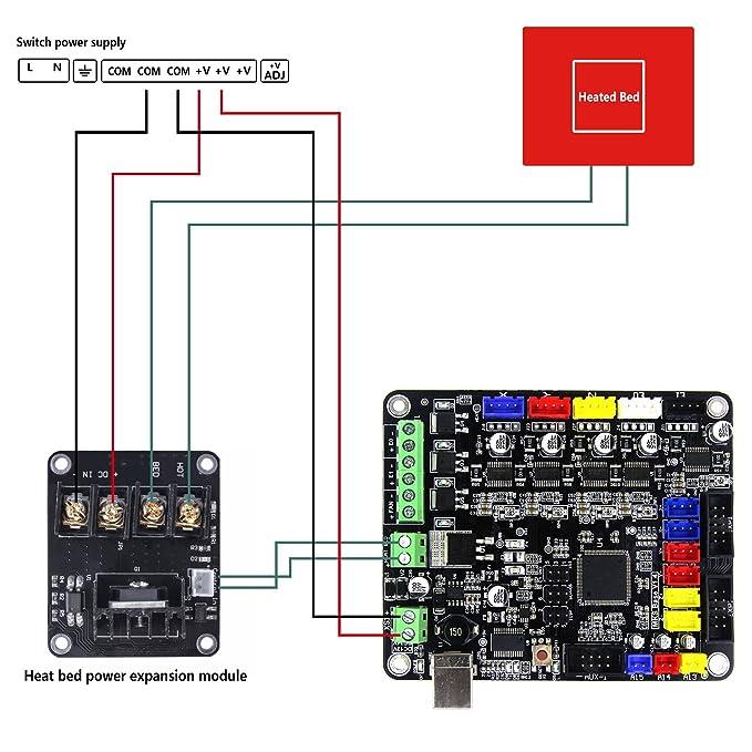 Oferta / Quimat 2pcs MOSFET Impresora 3D / Extensión de Energía Para Carga de Alta Corriente QY08-02 (2pcs)