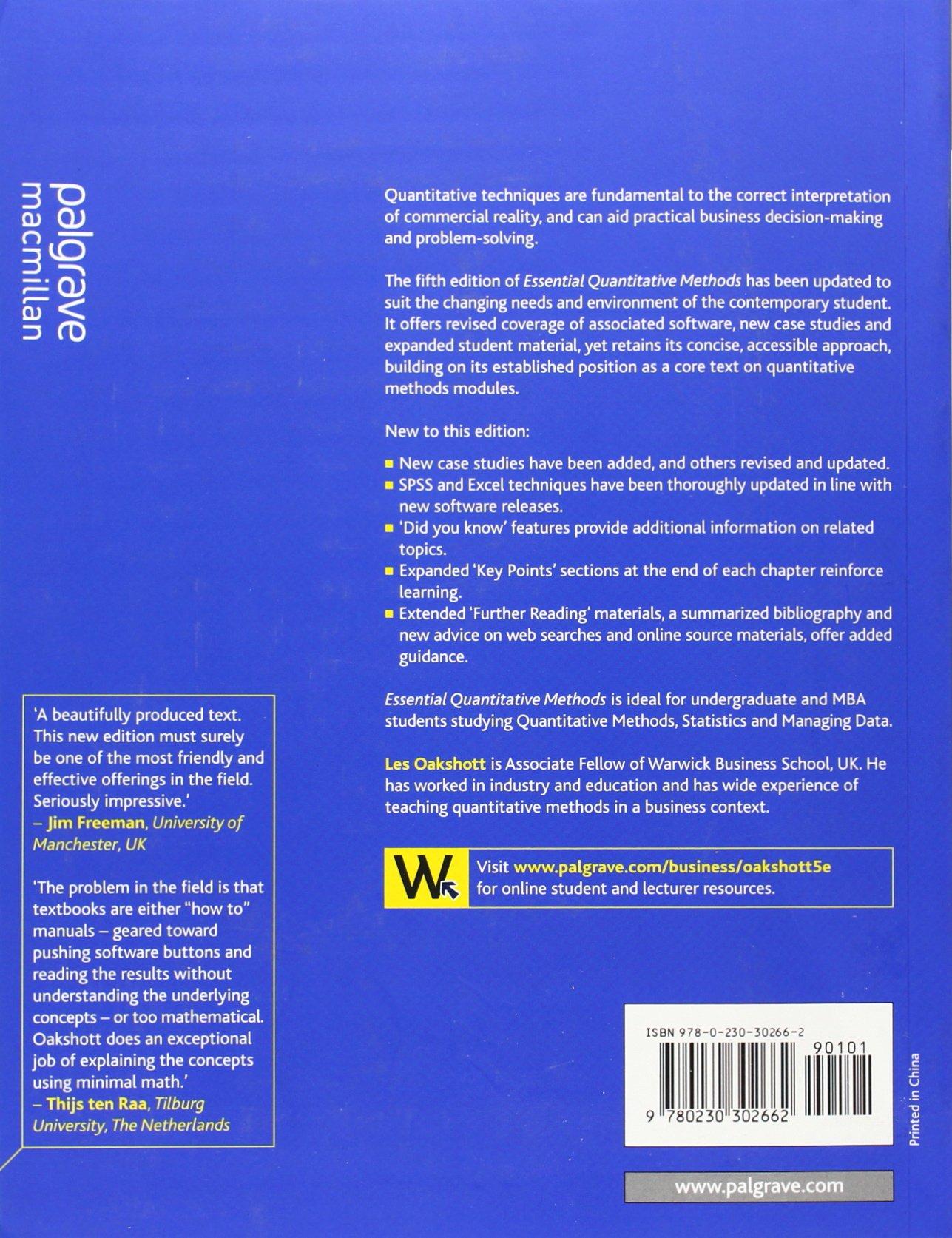 quantitative methods chapter 5 summary Chapter 5 qualitative research methods kristine florczak loading qualitative & quantitative research - an introduction - duration: 8:53.