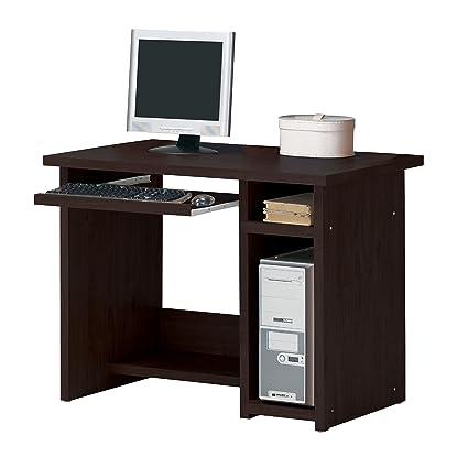 amazon com acme 04690 linda computer desk espresso finish 39 by rh amazon com inval espresso computer desk inval espresso computer desk