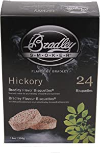 Bradley Smoker BTHC24 Bisquettes, Hickory, 24-Pack, One Size, Brown