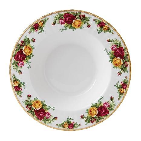 Amazon.com | Royal Albert 15210014 Old Country Roses Rim Soup Bowl ...
