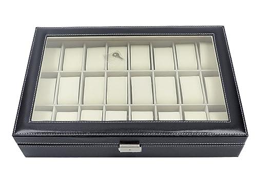 37 opinioni per Scatola per disporre orologi con 24 scomparti, realizzata in similpelle