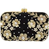 Tooba Women's 9 Flowers Box Clutch