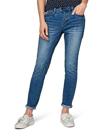 TOM TAILOR für Frauen Jeanshosen Relaxed Tapered Jeans mid