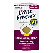 Little Remedies Saline Spray and Drops | Safe for Newborns | 0.5 Fl. Oz (Pack of 1)